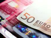 Euro currency close up